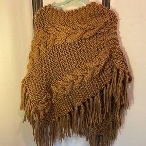 Boho Knit Poncho by Zoi